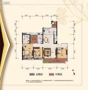 越秀天悦星院4室2厅2卫168平方米户型图