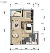 远洋天骄广场2室2厅1卫71平方米户型图