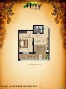 什河丽景1室1厅1卫33平方米户型图