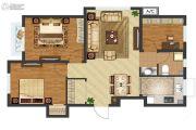 中国城建伦敦公元3室2厅1卫96平方米户型图