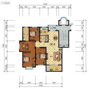 步阳江南甲第3室2厅2卫139平方米户型图