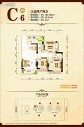 康隆・财富旺角3室2厅2卫105平方米户型图