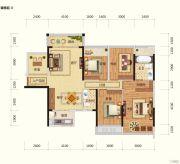 路桥锦绣国际4室2厅2卫121平方米户型图