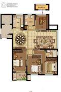 鸿�Z园4室2厅1卫137平方米户型图