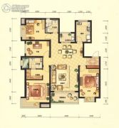 招商海公馆4室2厅2卫139平方米户型图