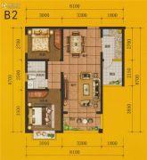 四通八达国际广场2室2厅1卫78平方米户型图