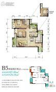 金融街金悦府2室2厅2卫0平方米户型图
