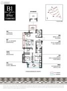 新城湾上风华3室2厅2卫0平方米户型图