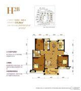 南岸花园东区3室2厅2卫0平方米户型图