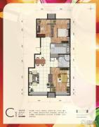 首创・新悦都3室2厅1卫81平方米户型图