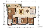 五和城南新天地4室2厅2卫139平方米户型图