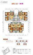 郴阳・融圆3室2厅2卫126平方米户型图