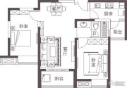 堰湾长堤2室1厅1卫77--79平方米户型图