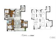 太湖颐景4室2厅2卫142平方米户型图