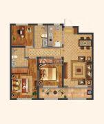 中海・寰宇天下3室2厅2卫106平方米户型图