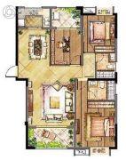 长宏国际城3室2厅2卫0平方米户型图