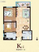 西部峰景2室2厅1卫72平方米户型图