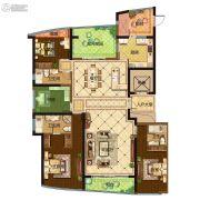 保利达江湾城4室5厅3卫214平方米户型图