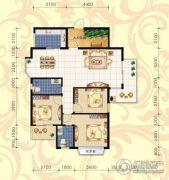 城市绿岛3室2厅2卫143--144平方米户型图