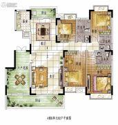 雍华庭4室2厅2卫172平方米户型图