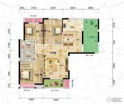 恒信・中央公园3室2厅2卫123平方米户型图