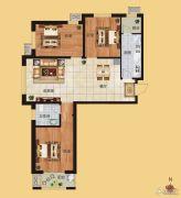 香榭丽都3室2厅1卫110平方米户型图