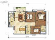 龙湖时代天街3室2厅2卫106平方米户型图