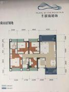 晟大翠海明珠4室2厅2卫106平方米户型图