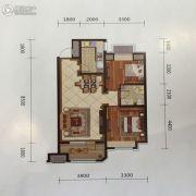 金地艺境2室1厅1卫87平方米户型图