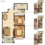 惠泽园2室2厅1卫89平方米户型图