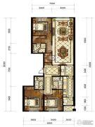 中海枫丹公馆3室2厅3卫180平方米户型图