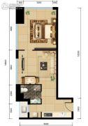 喜悦广场1室1厅1卫75平方米户型图