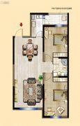 明发锦绣华城2室2厅1卫91--96平方米户型图