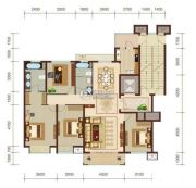 燕赵锦河湾4室2厅2卫162平方米户型图
