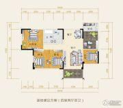 水岸欧韵4室2厅2卫114平方米户型图