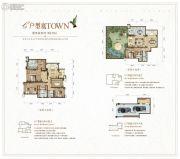 大同江鸿・铂蓝原著5室3厅5卫302平方米户型图