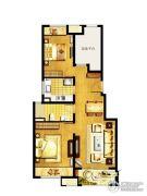 万科MixTown3室2厅1卫89平方米户型图