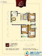 九乐倾城3室2厅2卫132平方米户型图