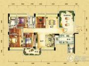 雅居乐十里花巷4室2厅2卫156平方米户型图