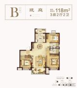海盐碧桂园嘉南首府3室2厅2卫0平方米户型图