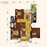 保利海上五月花3室2厅2卫129平方米户型图
