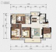 旭辉江山3室2厅2卫119平方米户型图
