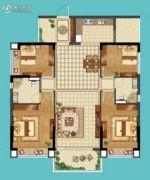 名巨山水城4室2厅2卫0平方米户型图