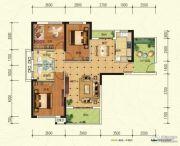 中建宜城春晓3室2厅2卫119平方米户型图