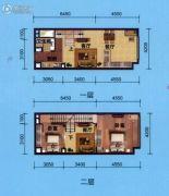 广物星港国际2室2厅1卫50平方米户型图