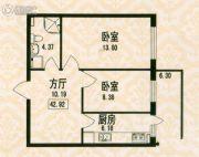 福宏名城1室0厅1卫42平方米户型图