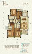 九洲绿城・翠湖香山4室2厅3卫173平方米户型图