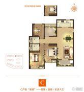 亿丰锦瑟3室2厅2卫125平方米户型图