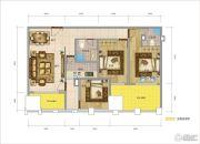 图腾・海博春天中心广场3室2厅2卫0平方米户型图