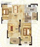 升华・翡翠一品2室2厅1卫90平方米户型图